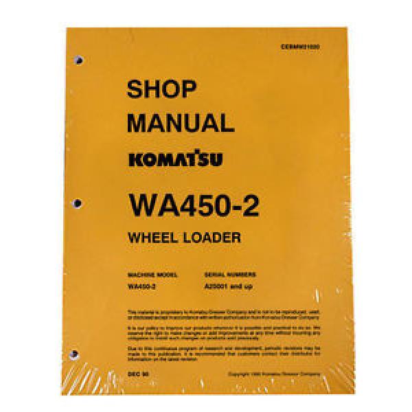 Komatsu WA450-2 Wheel Loader Service Repair Manual #1 image