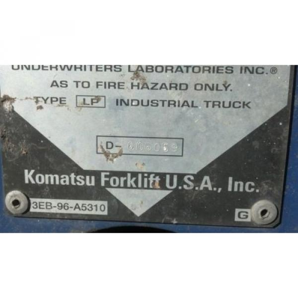KOMATSU 4000 POUND FORKLIFT FG20C-12W FORK TRUCK LIFT TOW MOTOR PARTS OR REPAIR #9 image
