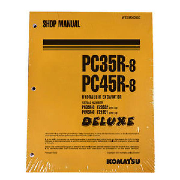 Komatsu Service PC35R-8, PC45R-8 Shop Manual #1 #1 image
