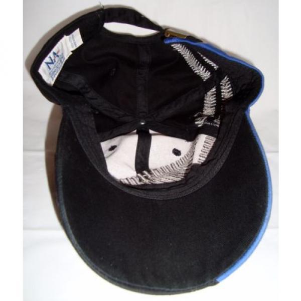 Komatsu Black Blue Embroidered Tracks Rubber Logo Strapback Baseball Cap Hat #6 image