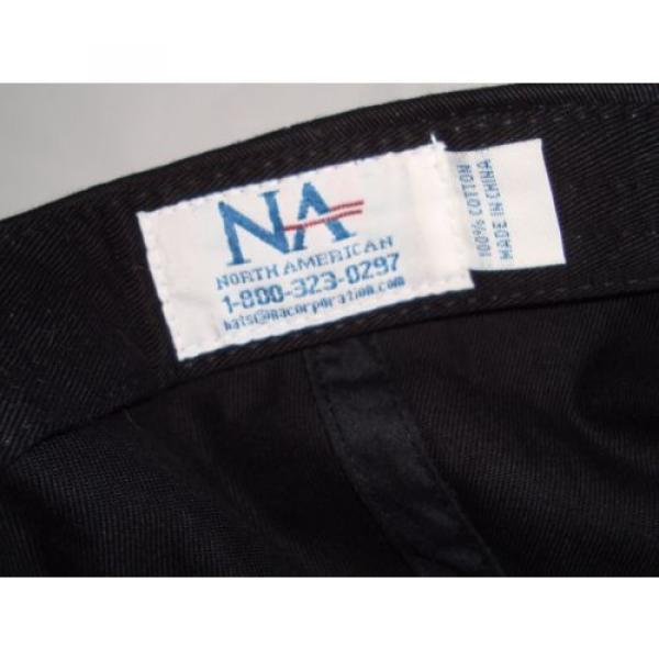 Komatsu Black Blue Embroidered Tracks Rubber Logo Strapback Baseball Cap Hat #7 image