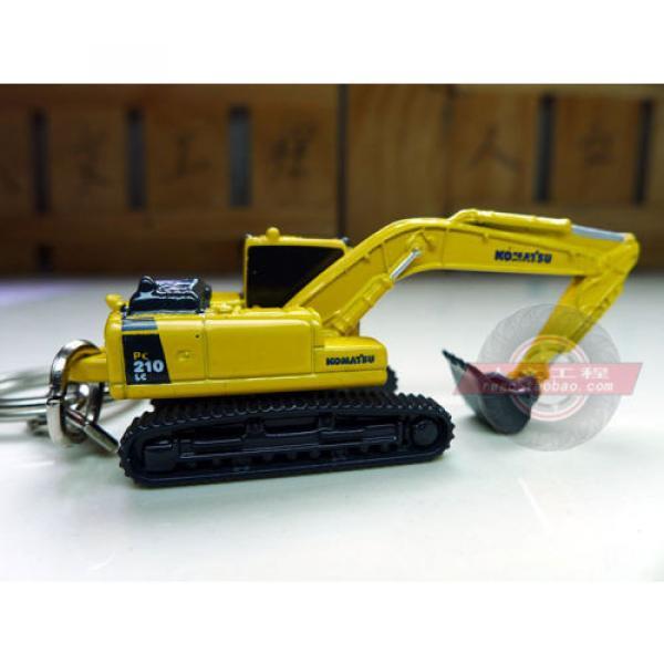 Authentic metal Keyring truck Komatsu excavator model  1-128 #1 image