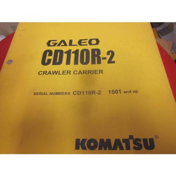 Komatsu CD110R-2 Crawler Carrier Operation & Maintenance Manual s/n 1501- #1 image