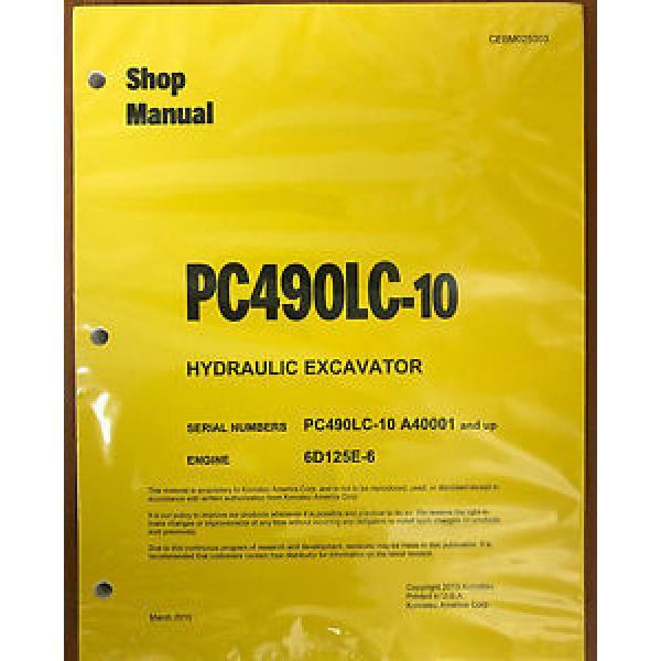 Komatsu PC490LC-10 Hydraulic Excavator Shop Repair Service Manual #1 image