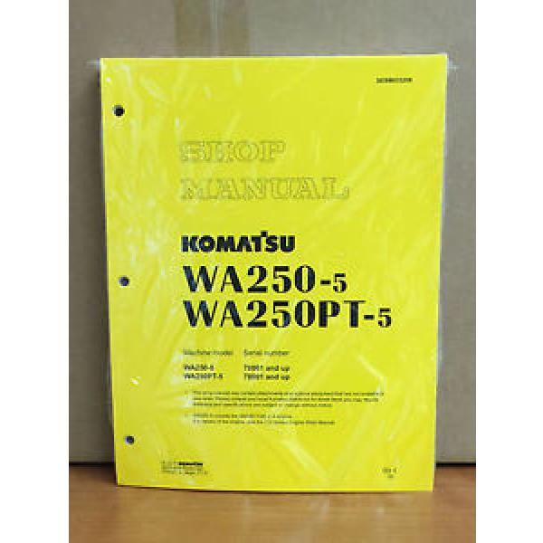 Komatsu WA250-5, WA250PT-5 Wheel Loader Shop Service Repair Manual #1 image