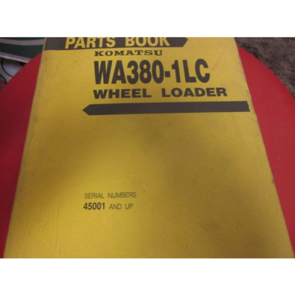 Komatsu WA380-1LC Wheel Loader Parts Book Manual s/n 45001 Up #1 image