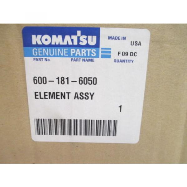 KOMATSU EXCAVATOR AIR FILTER ASSEMBLY 600-181-6050 NEW IN BOX HEAVY EQUIPMENT #2 image