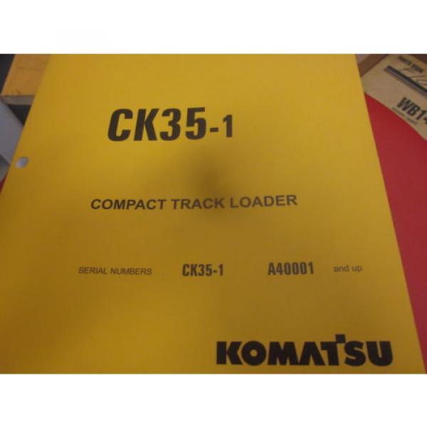 Komatsu CK35-1 Skid Steer Loader Parts Book Manual s/n A40001 & Up #1 image