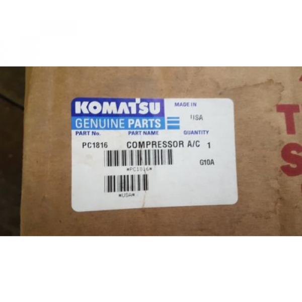 New Komatsu Compressor A/C PC1816 Made in USA #1 image