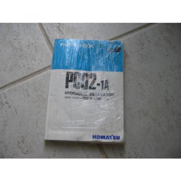 Komatsu PC02-1A Hydraulic Excavator Parts Book (English) #1 image