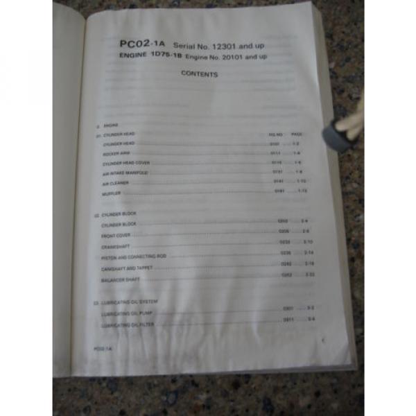Komatsu PC02-1A Hydraulic Excavator Parts Book (English) #3 image
