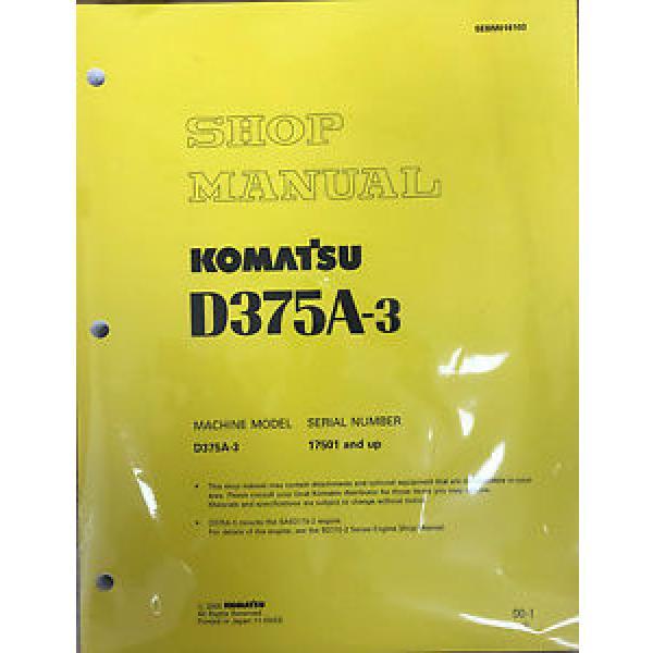 Komatsu D375A-3 Service Repair Workshop Printed Manual #1 image