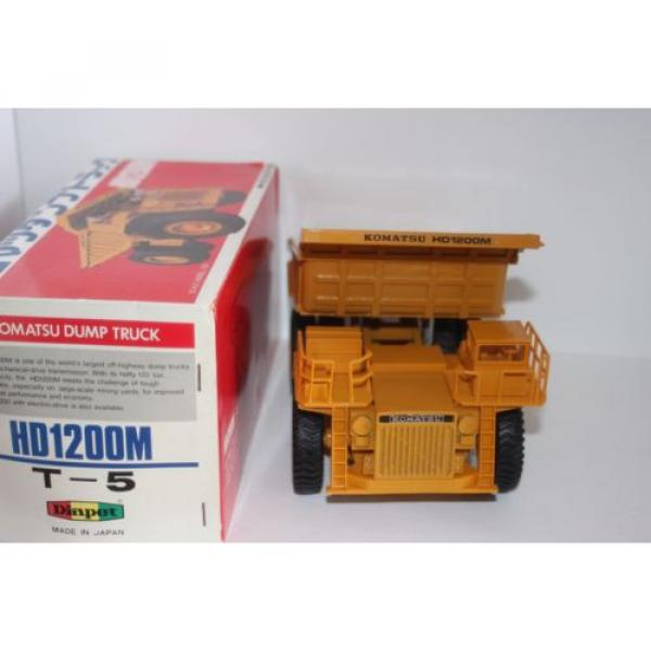 komatsu dump truck t-5 made in japan hd1200mm 1/50 new  yonezawa toy diapet #3 image