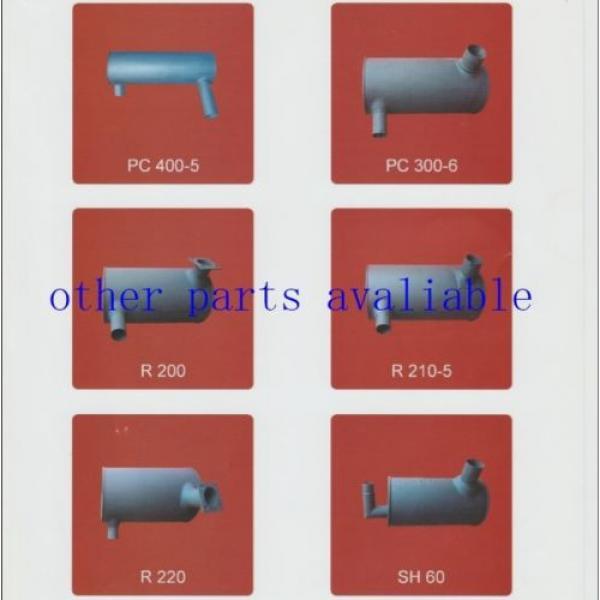 6208-11-5210 MUFFLER FITS FOR KOMATSU PC130-7 SAA4D95-3 #5 image