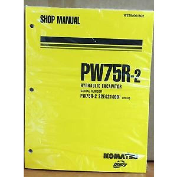 Komatsu Service PW75R-2 Excavator Shop Manual NEW REPAIR #1 image