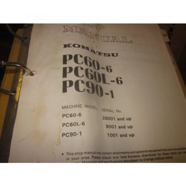 Komatsu PC60-6 PC60L-6 PC90-1 Hydraulic Excavator Service Repair Manual #1 image