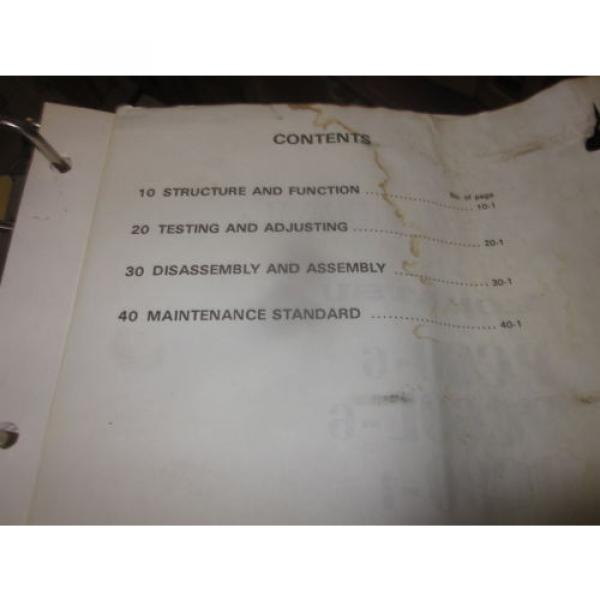 Komatsu PC60-6 PC60L-6 PC90-1 Hydraulic Excavator Service Repair Manual #2 image