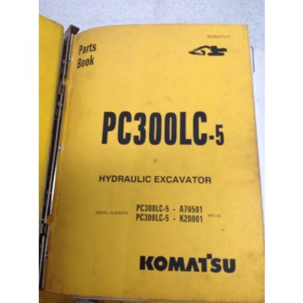 Komatsu PC300LC-5, Hydraulic Excavator Parts Book BEPB207071 #2 image