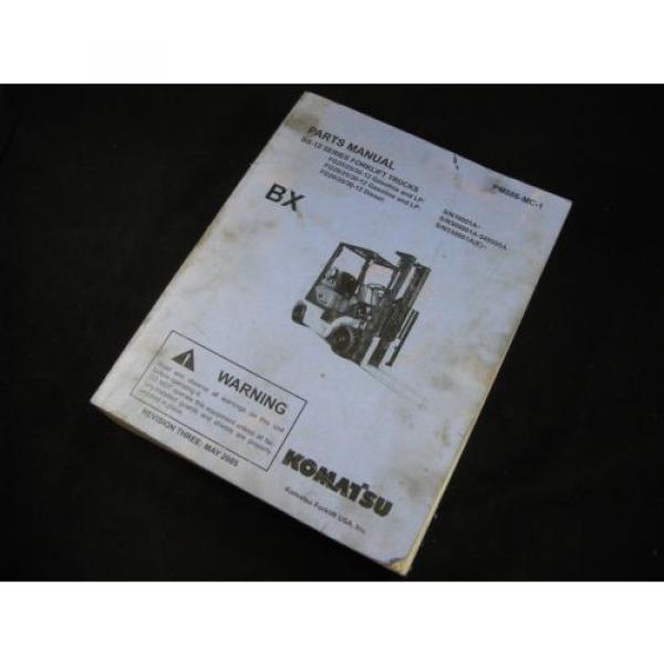 Komatsu Forklift BX-12 Series Parts Manual Book Catalog Lift Truck BX 12 OEM #2 image