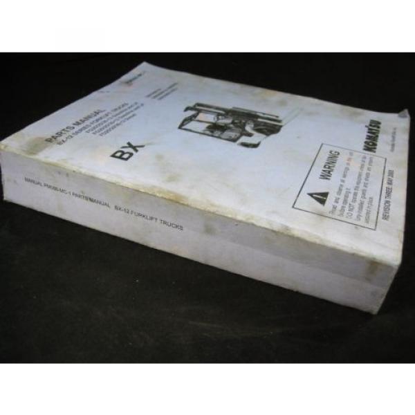 Komatsu Forklift BX-12 Series Parts Manual Book Catalog Lift Truck BX 12 OEM #4 image