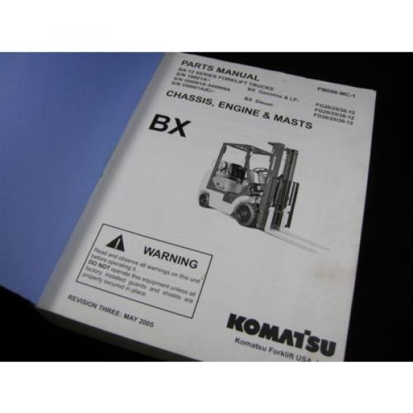 Komatsu Forklift BX-12 Series Parts Manual Book Catalog Lift Truck BX 12 OEM #6 image
