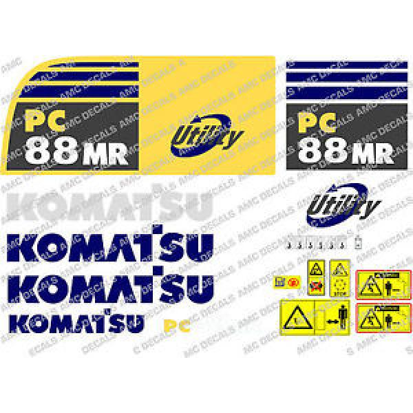 KOMATSU PC88MR DIGGER DECAL STICKER SET #1 image