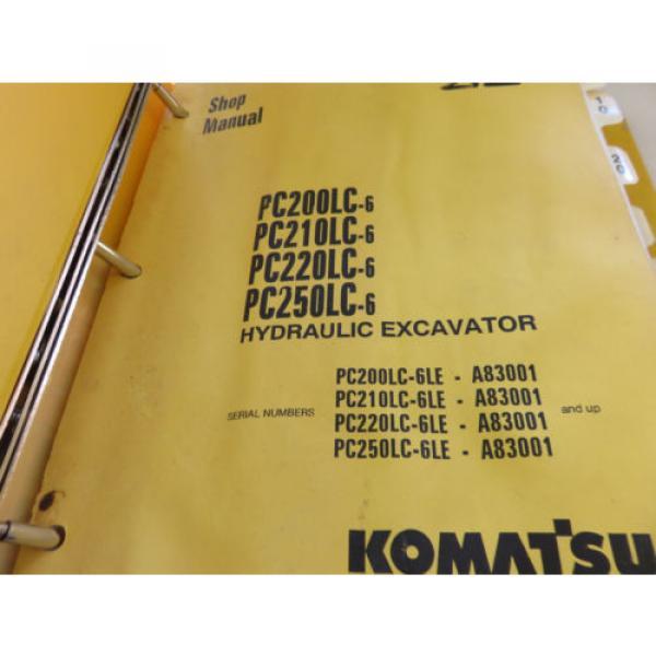 Komatsu PC200LC-6 PC210LC-6 PC220LC-6 PC250LC-6 Excavator Service Shop Manual #6 image