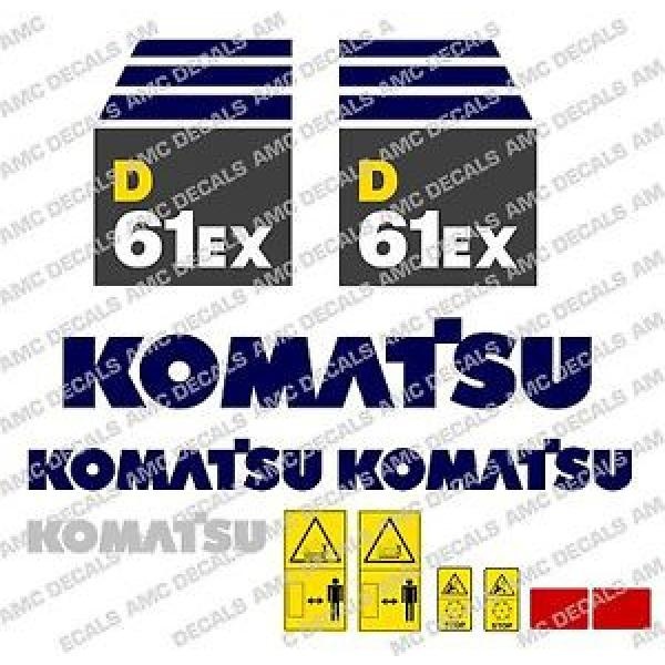 KOMATSU D61EX AUFKLEBER STICKER SET #1 image