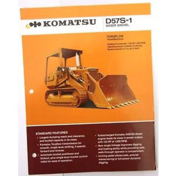 Komatsu D57S-1 Dozer Shovel Original Sales/specification Brochure #1 image