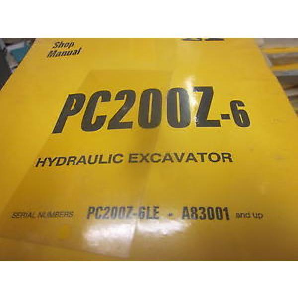 Komatsu PC200Z-6 Hydraulic Excavator Repair Shop Manual #1 image