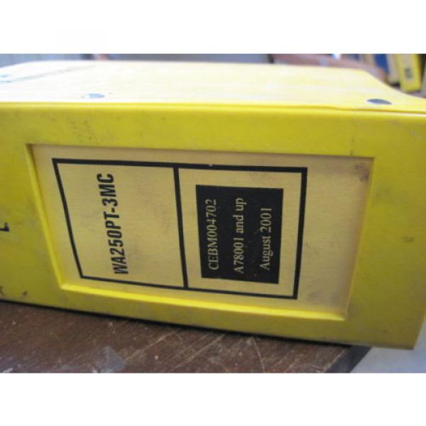 Pair of OEM Komatsu WA250PT-3MC PARTS and SHOP REPAIR SERVICE Manual Books #2 image