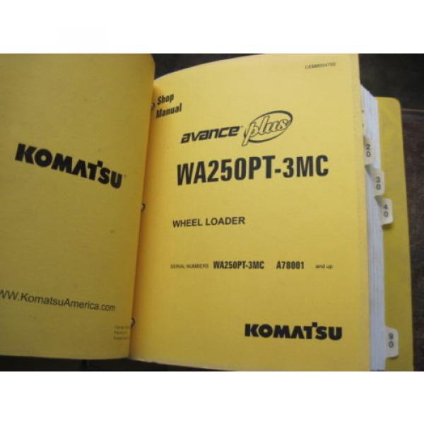 Pair of OEM Komatsu WA250PT-3MC PARTS and SHOP REPAIR SERVICE Manual Books #3 image
