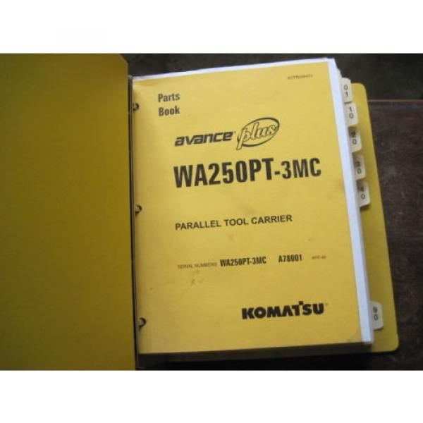 Pair of OEM Komatsu WA250PT-3MC PARTS and SHOP REPAIR SERVICE Manual Books #4 image