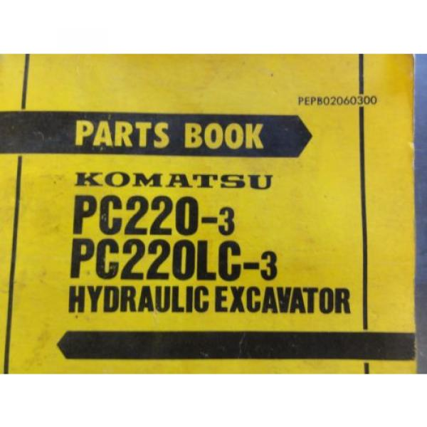 Komatsu PC220-3, PC220LC-3 Hydraulic Excavator Parts Book  PEPB02060300 #2 image