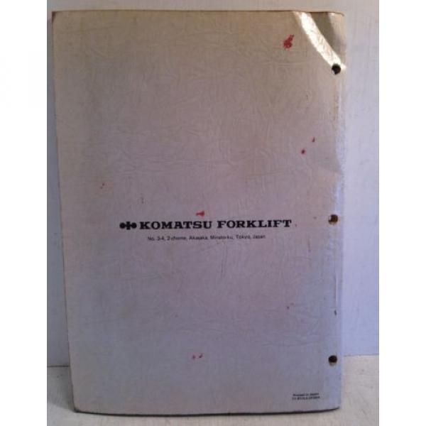 Komatsu Forklift Shop Manual 6D105-1 Series Diesel Engine, Service & Repair(3195 #2 image