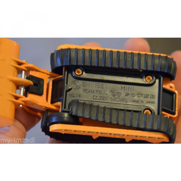 Vintage SHINSEI Mini Power KOMATSU DOZER SHOVEL Japan D65S 14 One Broken Track #5 image