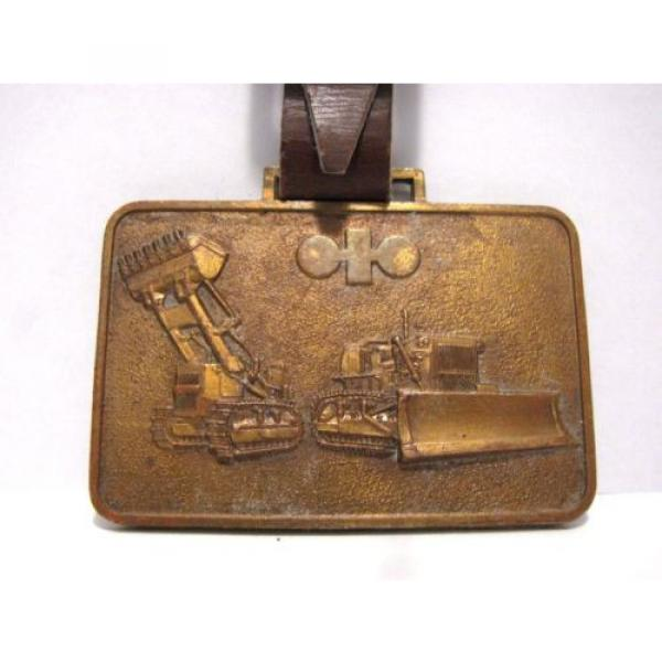 Vintage Wabco kOMATSU Crawler Loader Dozer Pocket Watch Fob JAPAN Construction #1 image