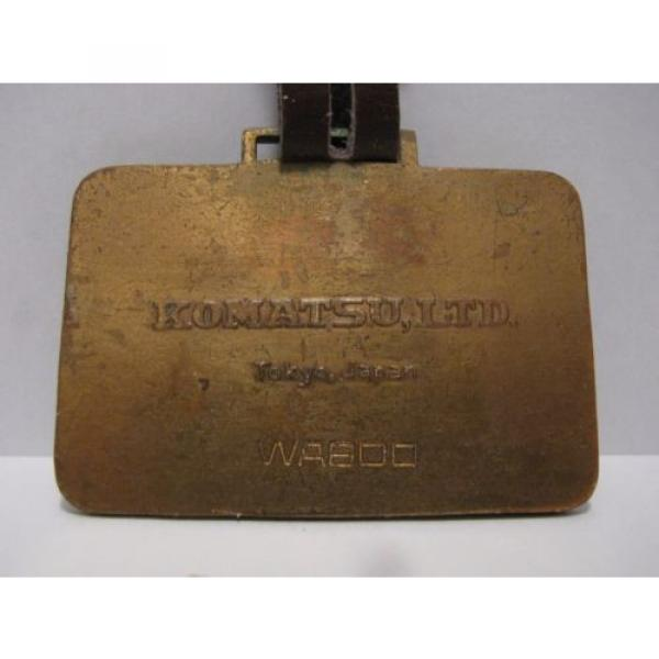 Vintage Wabco kOMATSU Crawler Loader Dozer Pocket Watch Fob JAPAN Construction #2 image