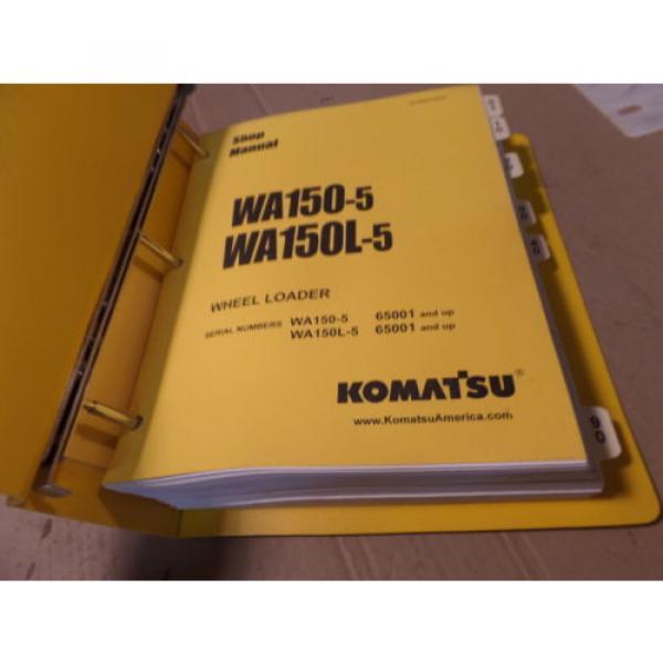 KOMATSU WA150-5 WA150L-5 WHEEL LOADER SHOP MANUAL S/N 65001 & UP #2 image