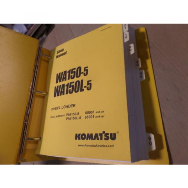 KOMATSU WA150-5 WA150L-5 WHEEL LOADER SHOP MANUAL S/N 65001 & UP #3 image