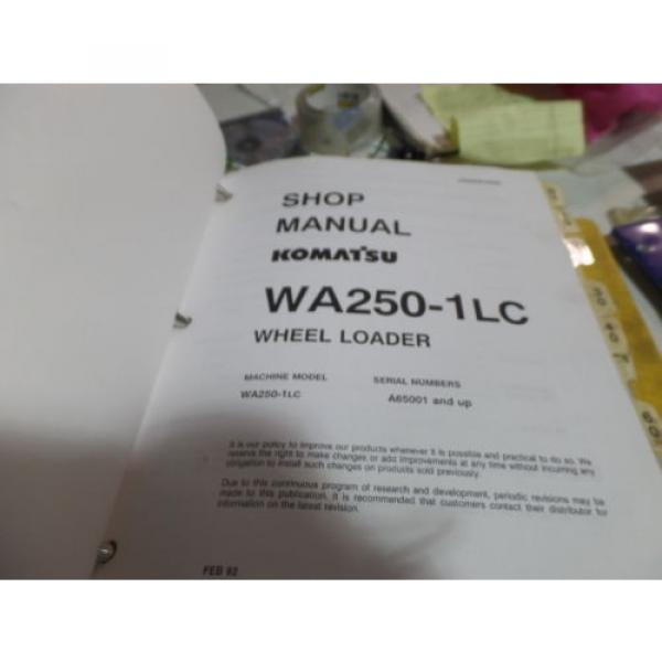 KOMATSU WA250-1LC WHEEL LOADER SHOP MANUAL S/N A65001 & UP #3 image