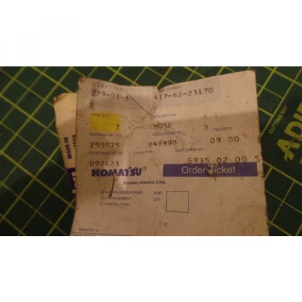 GENUINE KOMATSU REPLACEMENT HYDRAULIC HOSE ASSEMBLY 417-62-23170, 4176223170 NEW #4 image