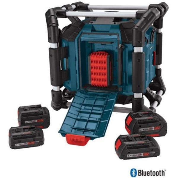 New Water Resistant Cordless Bluetooth Capability Jobsite Radio 18v Job Site #2 image