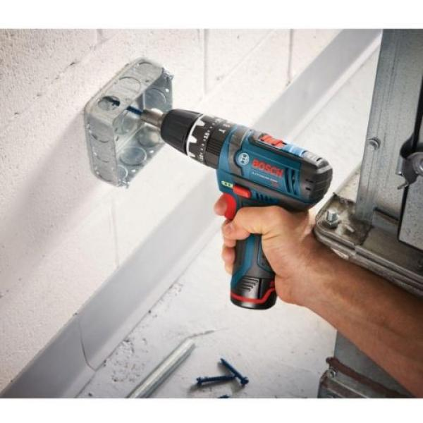12-Volt Lithium-Ion Cordless Drill Driver and Impact LED Light 2 Tool Combo Kit #6 image