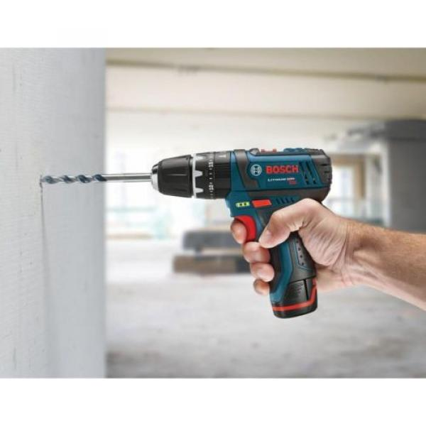 12-Volt Lithium-Ion Cordless Drill Driver and Impact LED Light 2 Tool Combo Kit #4 image