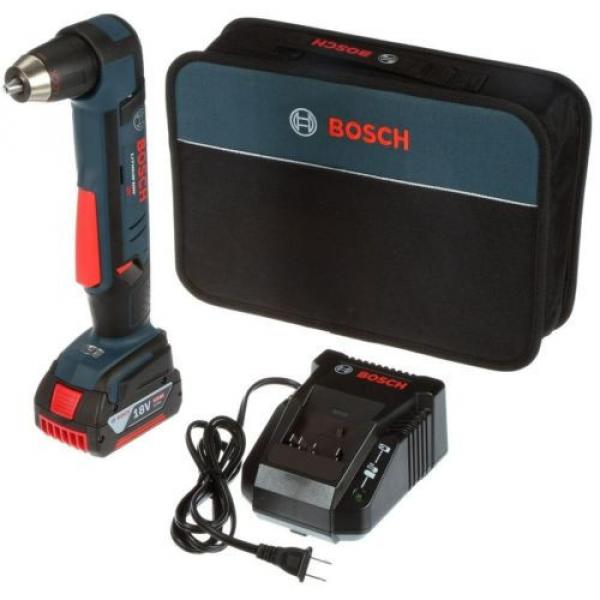 Cordless Right Angle Drill Variable Speed Keyless Chuck 18 Volt Lithium-Ion Kit #1 image
