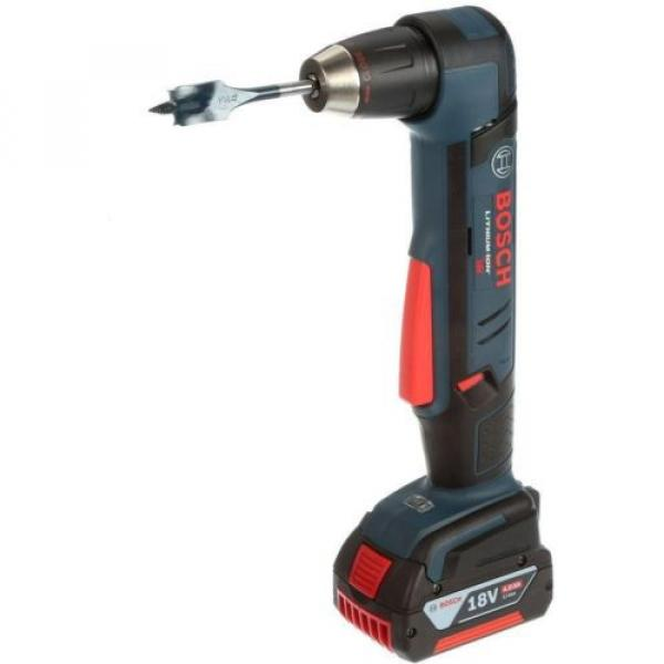Cordless Right Angle Drill Variable Speed Keyless Chuck 18 Volt Lithium-Ion Kit #4 image
