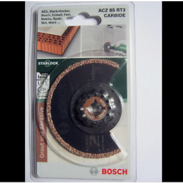 Bosch Starlock ACZ 85 RT3 Carbide RIFF Segment Saw Blade Grout & Abrasive 85mm #1 image