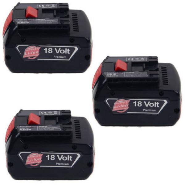 3x4.0AH 18V Li-ion Battery For Bosch BAT609 BAT618 2 607 336 091 CCS180 CCS180B #1 image