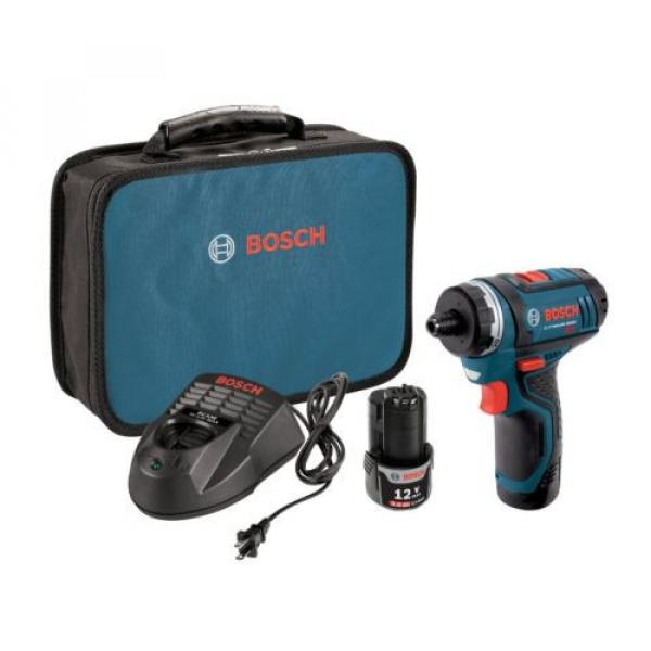 Cordless Lithium-Ion 2-Speed Pocket Drill Driver Kit Bosch PS21-2A 12-Volt Max #1 image